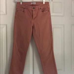 peach cropped pants